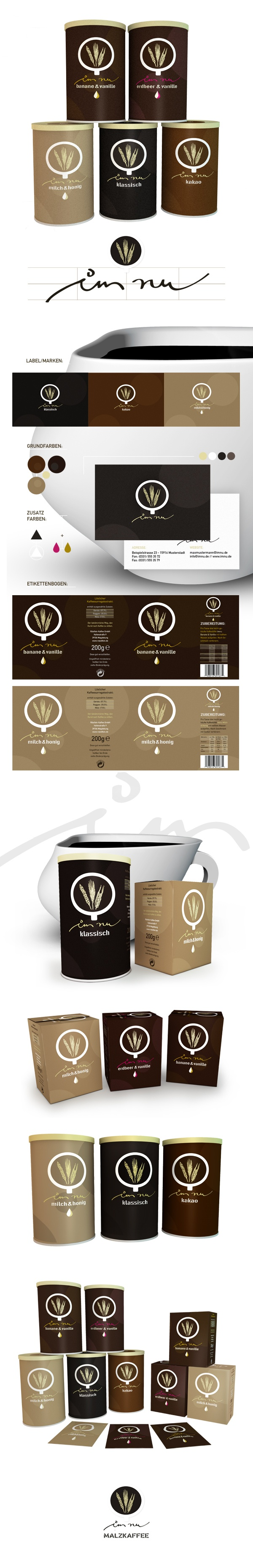 IMNU - Malzkaffee by David Göpfert, via Behance