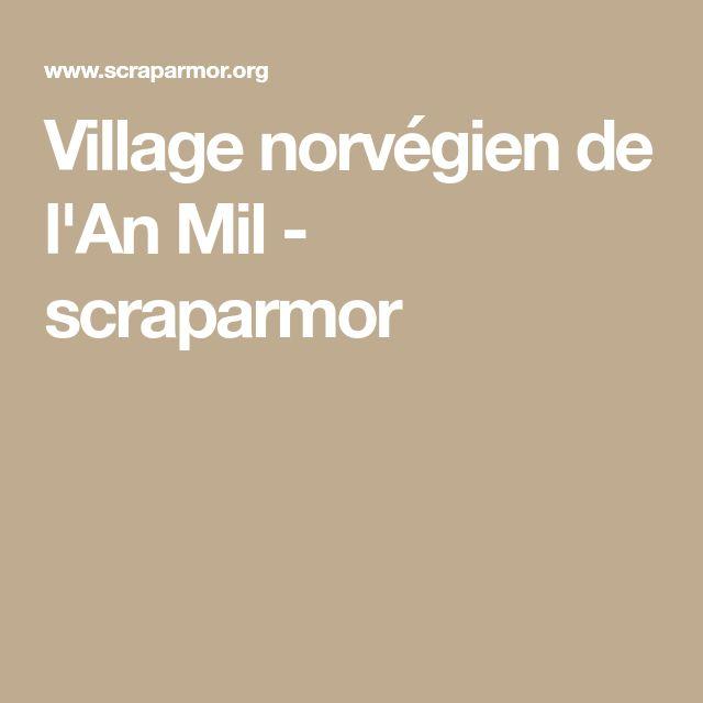 Village norvégien de l'An Mil - scraparmor