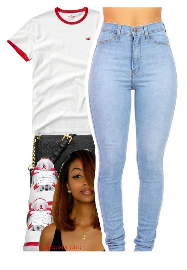 """""""02.24.16"""" by yeauxbriana on Polyvore featuring Hollister Co., MICHAEL Michael Kors, NIKE, women's clothing, women, female, woman, misses and juniors"""
