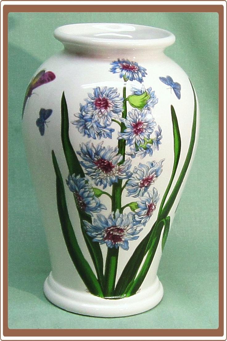 Vintage Portmeirion Botanic Garden Vase Blue Flowers And Butterflies Quot Home Decor