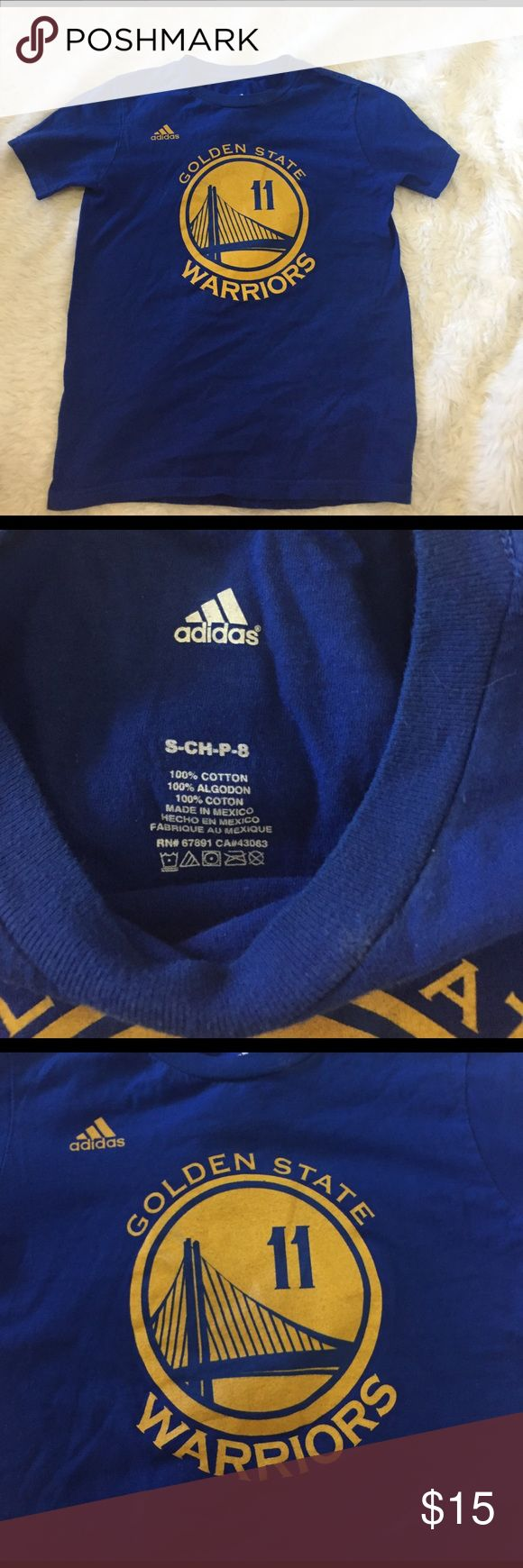 Golden state warriors t shirt adidas Adidas Golden state  warriors t shirt. No flaws. Fits more like an xs nicely fitted Adidas Tops Tees - Short Sleeve