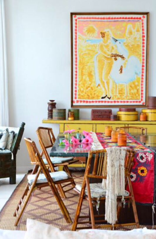 """This cheerful dining room is from our feature """"Sol's Soul"""""""