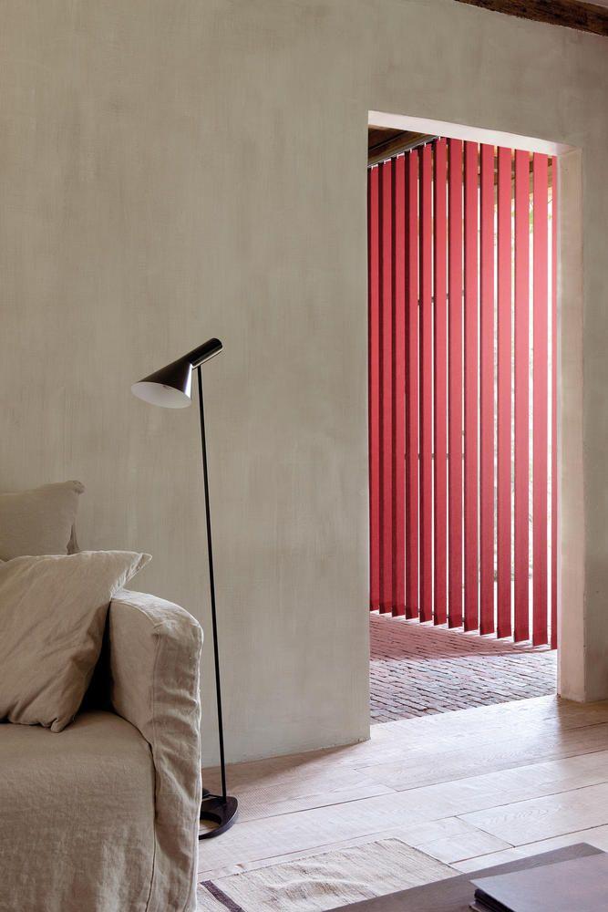 Copahome raamdecoratie verticale jaloezieën rood / La décoration de fenêtre. Stores à bandes verticales rouge