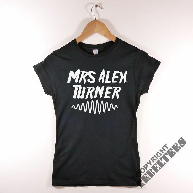 Mrs Alex Turner ARCTIC MONKEYS t-sirt Womens AM album lines artwork print