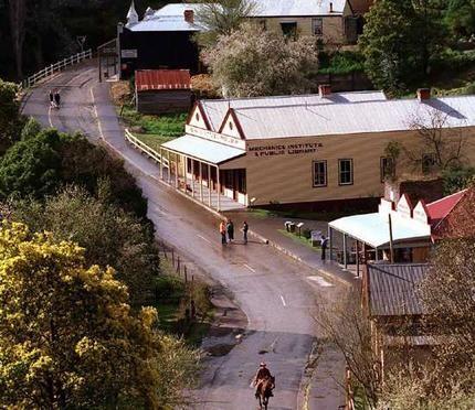 Walhalla, Victoria Australia.  A Gold-Rush town