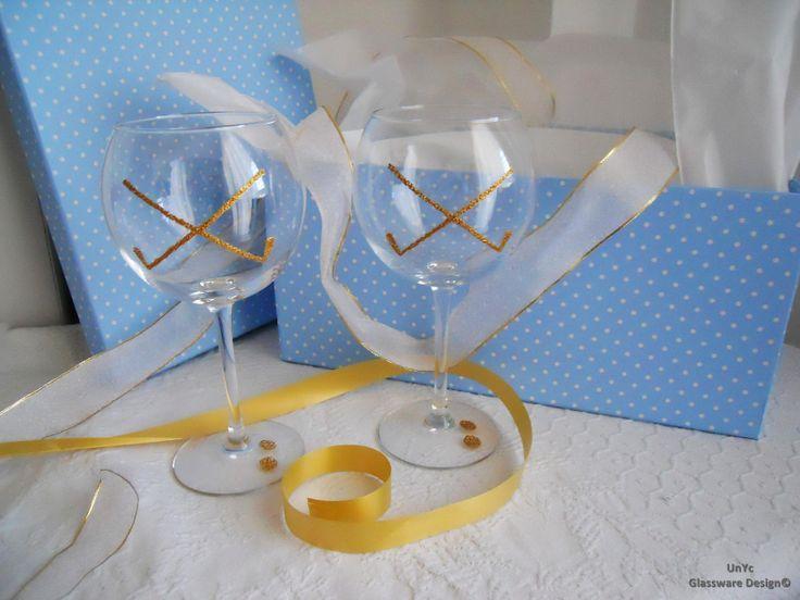 Copas de balón personalizadas con palos de golf.  Más info: www.unycgd.wordpress.com y unycgd@gmail.com