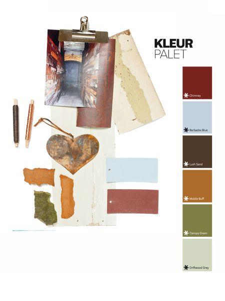 In elke uitgave van vtwonen wordt een bijzonder kleurpalet getoond.