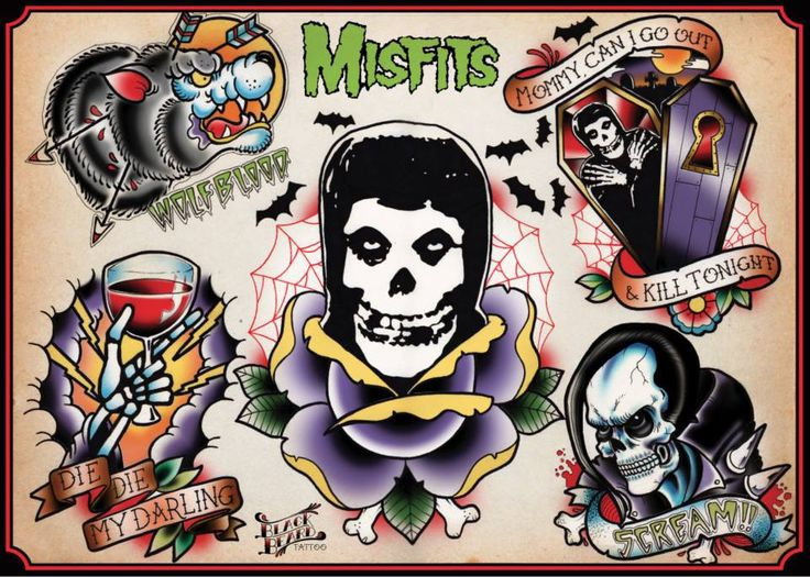 MISFITS TATTOO FLASH