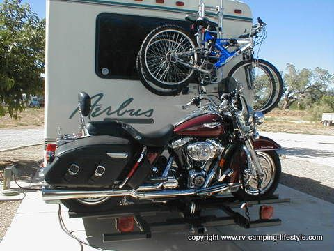 Dirt Dog Las Vegas >> rv motorcycle carrier. Go to the website for a tutorial on using a bike lift. | Camping Trailers ...