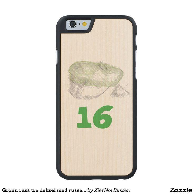 Grønn russ tre deksel med russe lue carved® maple iPhone 6 case
