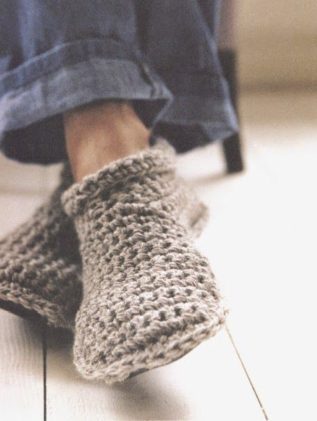 Patroon gehaakte slofjes - crochet slippers pattern