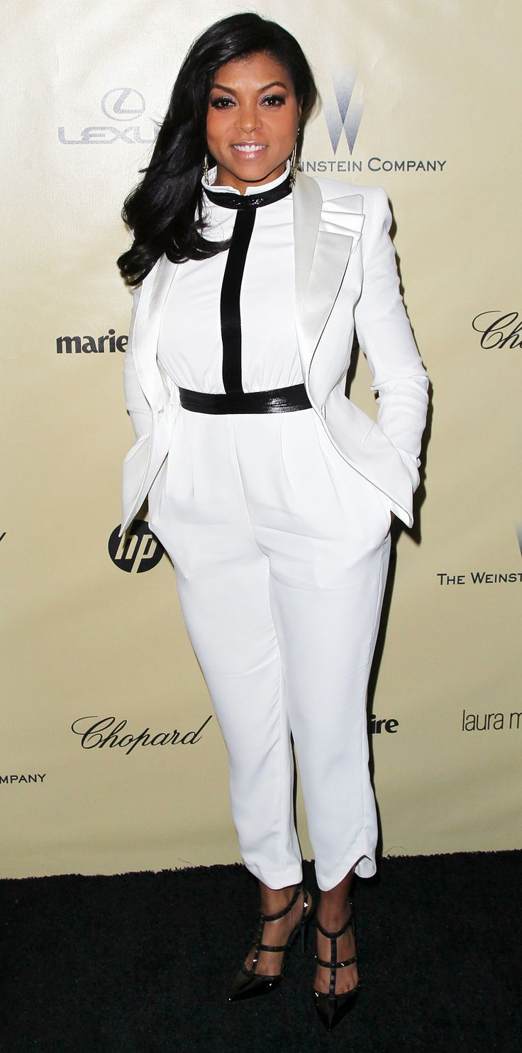 Taraji P. Henson's Best Looks Ever - In a White Jumpsuit, 2013  - from InStyle.com