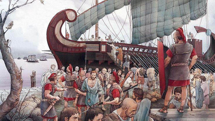 """""""La deportazione dei Liguri nel porto di Luni, 180 aC"""""""