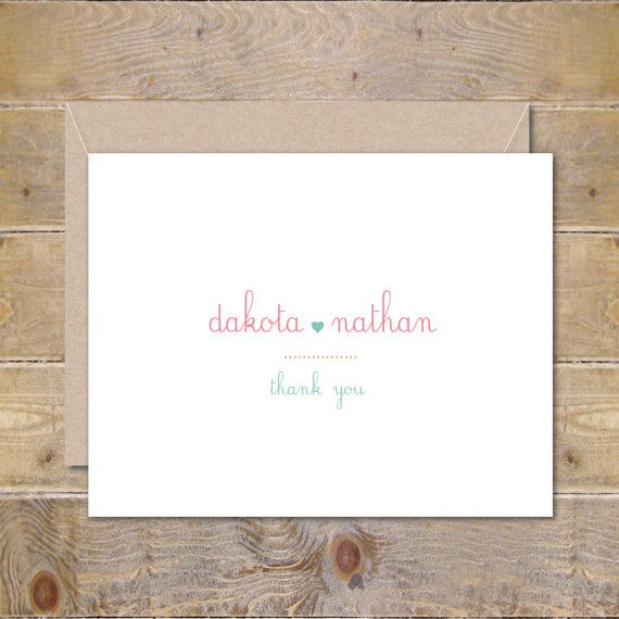 Wedding Thank You Cards . Personalized Wedding Cards . Bridal Shower Thank You Cards - So In Love by SweetBellaStationery