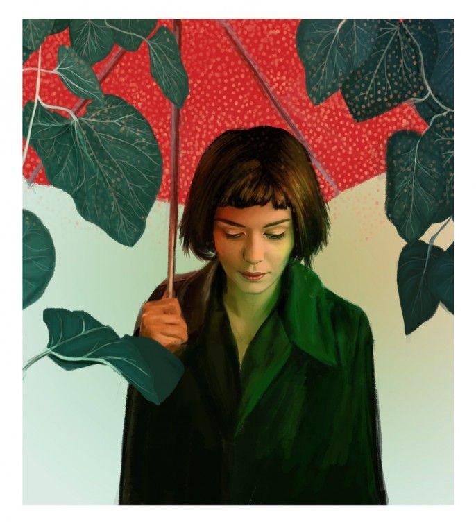 Kemi Mai - La Rêveuse. Spoke Art Gallery, collective art show, tribute to the French directors Jeunet and Caro.