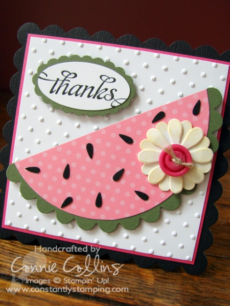 watermelon card: Watermelon Cards, Cards Ideas, Summer Cards, Cards Stampin, Stampin Up, Greeting Cards, Papercraft Cards, Cards Templates, Birthday Ideas