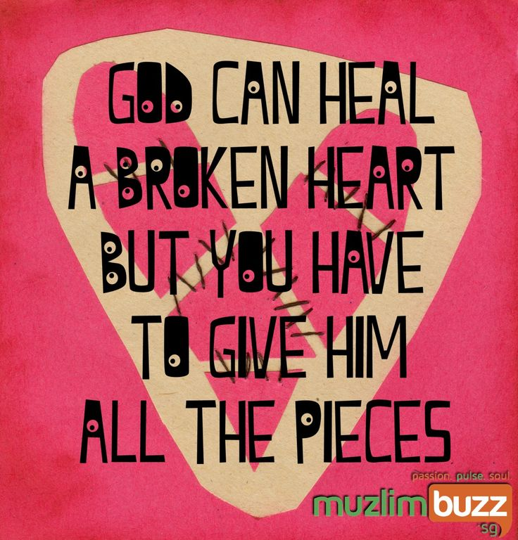 How can you mend a broken heart? http://www.onislam.net/english/reading-islam/living-islam/growing-in-faith/451836-mending-the-broken-heart.html?utm_content=bufferf4428&utm_medium=social&utm_source=pinterest.com&utm_campaign=buffer http://www.onislam.net/english/reading-islam/living-islam/growing-in-faith/451836-mending-the-broken-heart.htmlhttp://buff.ly/1E6Ytjg?utm_content=buffera4f4b&utm_medium=social&utm_source=pinterest.com&utm_campaign=buffer