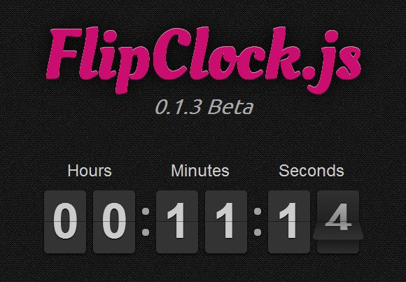 FlipClock.js : #JavaScript Timer Clock Timer Library
