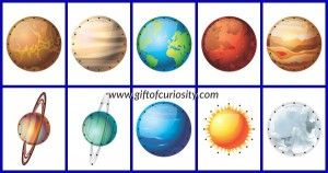 Solar System Lacing Cards Collage