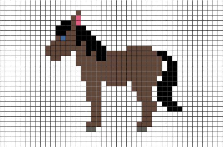 Horse Pixel Art from BrikBook.com #Horse #Animal #pixel #pixelart #8bit Shop more designs at http://www.brikbook.com