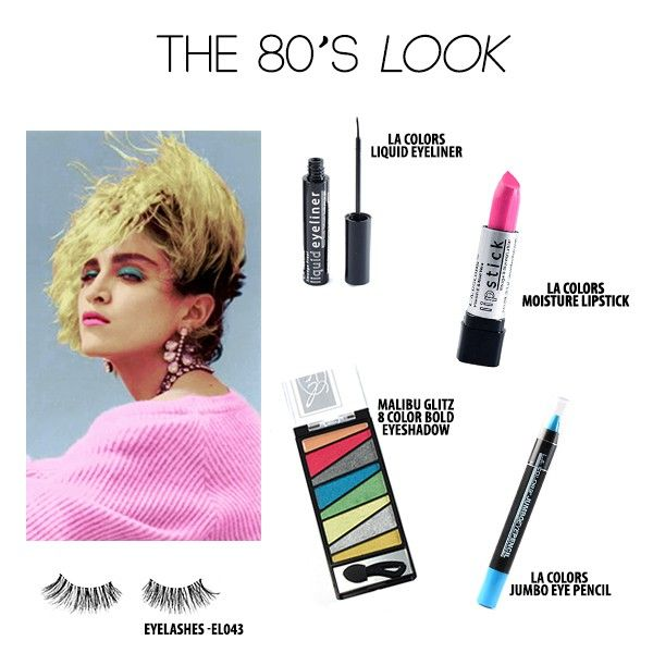 Okay guys, grab your hair spray and hop on your hover skate boards, 'cause we're going back to the #80s. This bold, bright look is sure to grab the attention of, well, everyone!  Really all you need is any neon eye-shadow palette, and some bold lipstick. What was your favorite 80's trend? Tell us in the comments! #ShopMissA #BeautyBits #Madonna #80sMakeup #Fashion #FastFashion #AffordableFashion #BeautyOnABudget #Cosmetics #Makeup