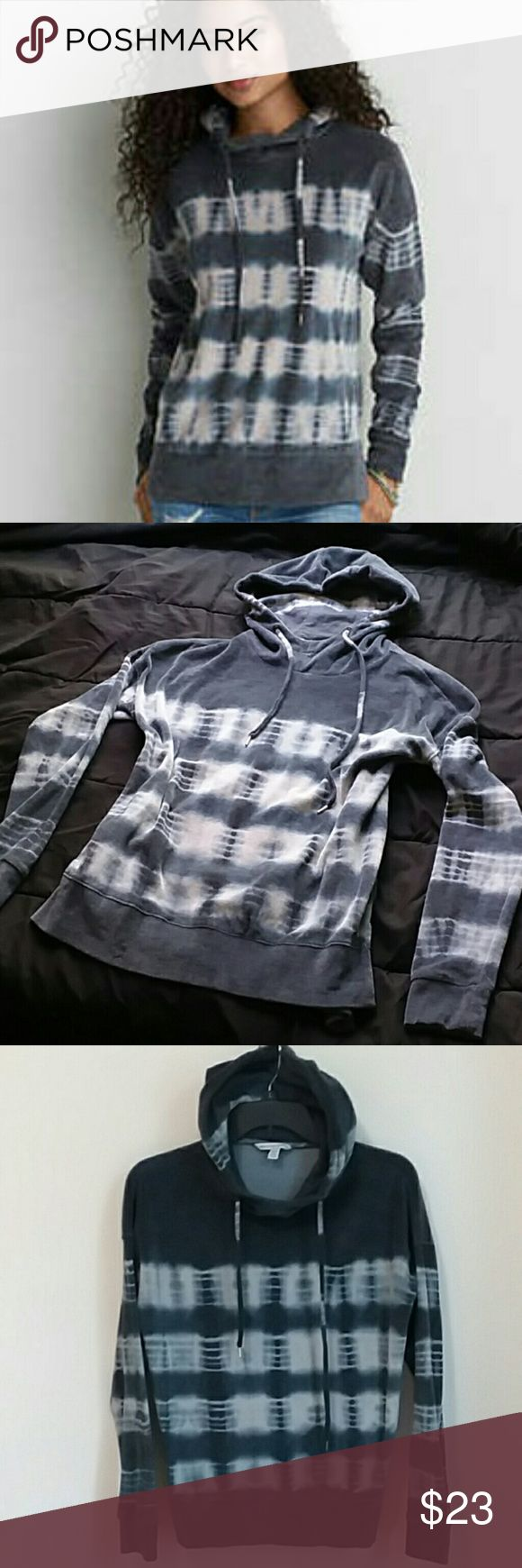American Eagle Outfitters tye dye velour hoodie XS Greyish blue  and white tye dye hoodie with velvety material. Good used condition. Size Xs. Loose fit.  Drawstring hood. American Eagle Outfitters Tops Sweatshirts & Hoodies