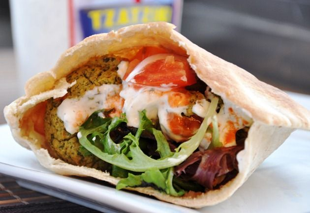 Healthy baked falafel sandwich by honeywhatscooking falafel healthy honeywhatscooking
