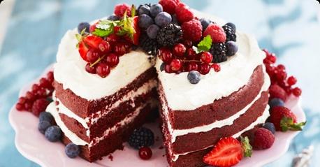 A super juicy Red Velvet Cake