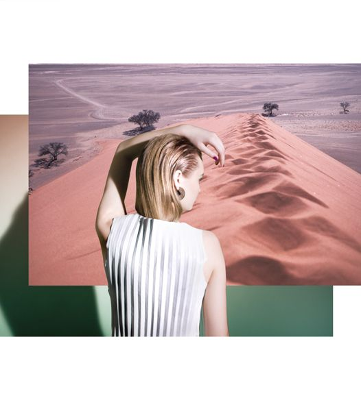 London-based artist/photographer and recent Brighton University graduate, Rosanna Webster, is off to a dashing start with collaborations for Vogue Paris on a visual diary, AnOther, and this stunning illustrated editorial for Stamp Magazine. Desert botanical and geometry fused with fashion create a brilliant array of color and mixed opacity images