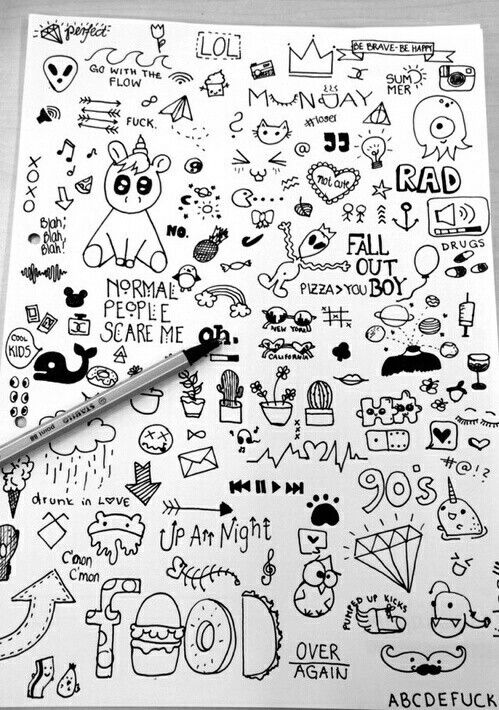 Imagen de doodle, drawing, and art
