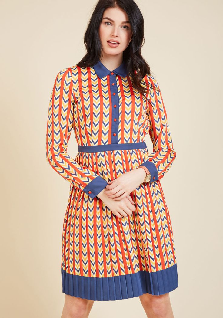 New Arrivals - Just My Typist Long Sleeve Dress