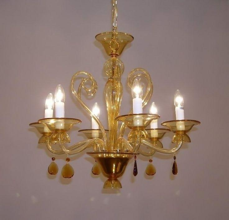 Стеклянная люстра подвесная Laur Style 109/8 S OR