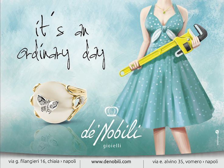 New advertising campaign for de'Nobili jewelry maison. Nuova campagna di comunicazione multi-soggetto per l'anniversario dei 70 anni di vita di de'Nobili gioielli.