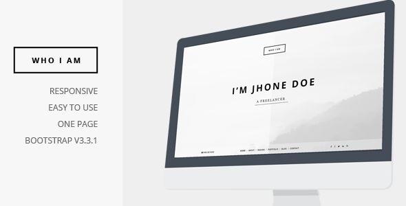 Who I am - Personal Resume and Portfolio Theme