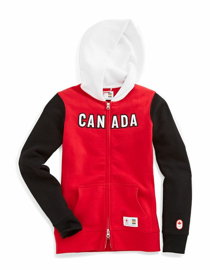 HBC Collections | Olympic Collection | Sochi 2014 Colourblock Zip Hoodie | Hudson's Bay