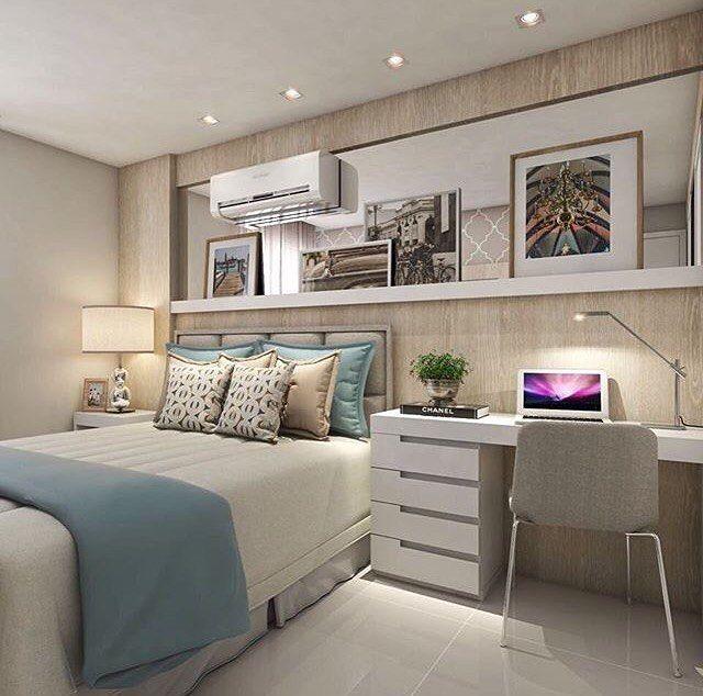 """680 curtidas, 7 comentários - ARQDIN (@arqdin_) no Instagram: """"Bom dia Proposta simples e linda de quarto com base em tons neutro Gostaram? Projeto:…"""""""