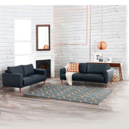 Sisco Leather Sofa | Domayne Online Store