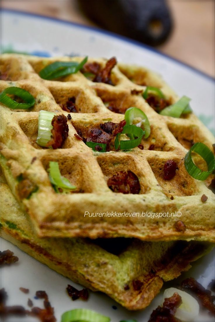 Avocado-Bacon wafels + Spinazie-Wortel wafels - Puur & Lekker leven volgens Mandy