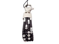 Black and white Swarovski crystals make this Cango & Rinaldi key ring very beautiful. It is now available from our online store. With this key ring your keys not be lost that often or they will shine to your eyes from the hidden places. Classical and elegant colors, black and white, make this key ring to very suitable and attractive for many different kinds of keys.