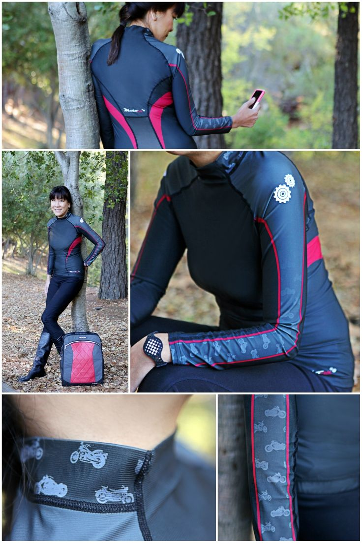 """Base Layer Top for Women Stays Dry, Cool and Warm    """"Long-sleeve short feels cool when the air is blowing through it and the sweat dissipated…when you stop, or close the vents on your jacket, it's actually quite warm, so it should act as an effective warm base layer for the winter months."""" - Review by @MotorbikeWriter   base layer / base layer clothing / base layers / base layer women / motorcycle clothes / motorcycle clothing / motorcycle clothes for women / motorcycle clothing for women"""