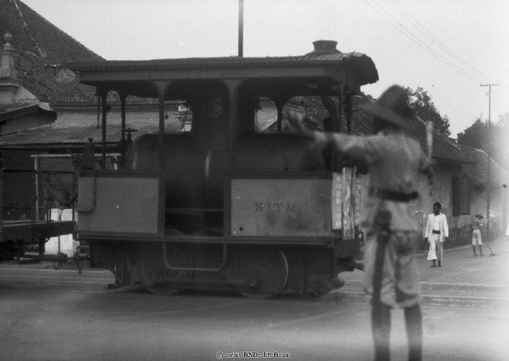 """Batavia trams, they were """"fireless"""" (diesel-engined) Hohenzollern trams made in Germany and operated by NITM (Nederlands Indie Trams-en-spoorwegen Maatschappij)"""