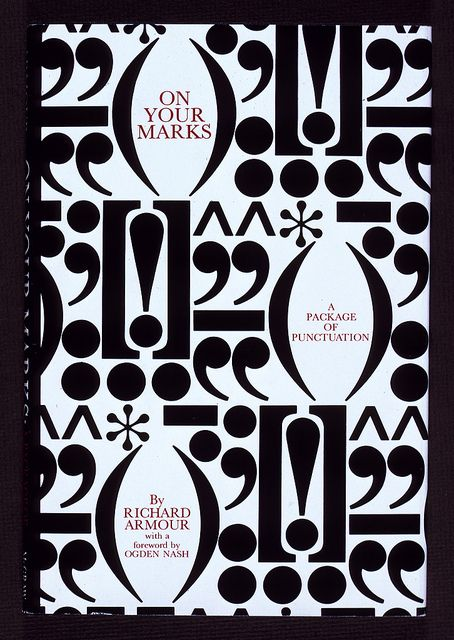 """On Your Marks"" #book jacket designed by Herb Lubalin, 1969 by Herb Lubalin Study Center / Brands like us*"