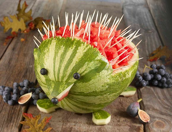 hedgehog watermelon