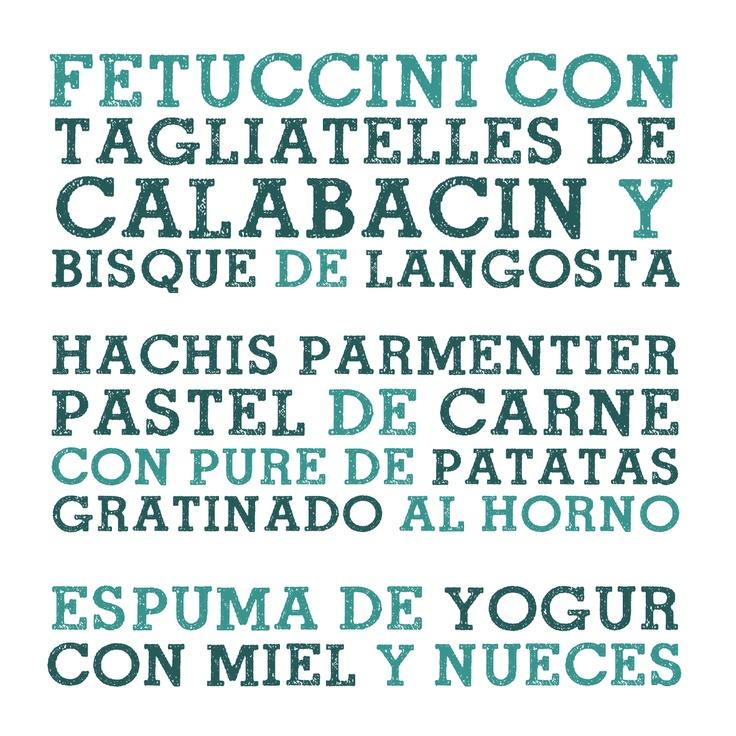 #menudeldia 10.01.13 Fetuccini con Tagliatelles de Calabacín y Bisqué de Langosta · Hachis Parmentier · Espuma de Yogur con Miel y Nueces