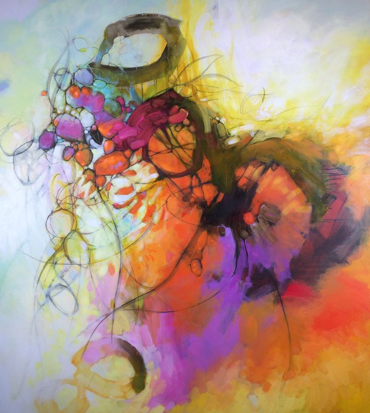 This collection of contemporary abstract art paintings is created by Victoria based artist Blu Smith.