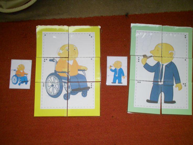 puzzel 6 stuks opa *liestr*