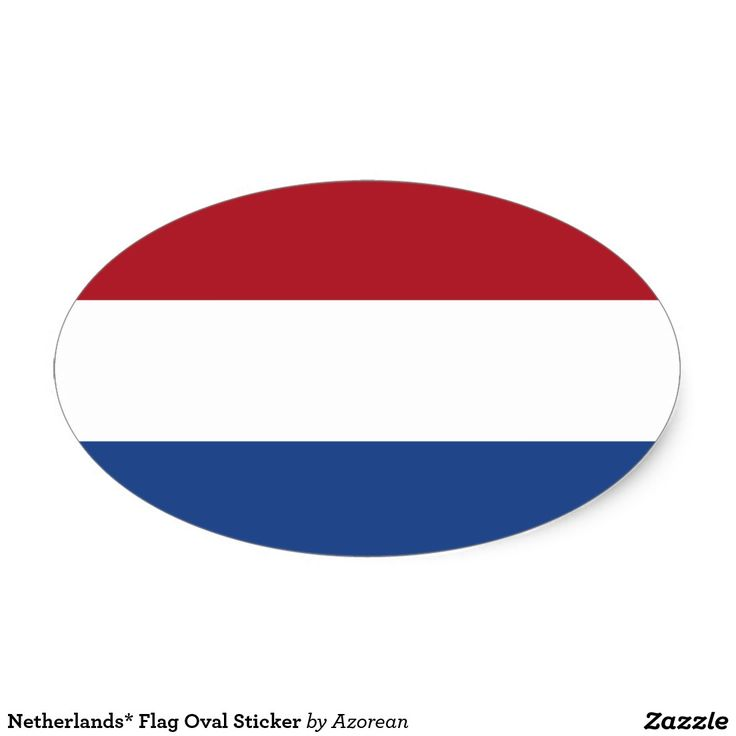 Netherlands flag oval sticker