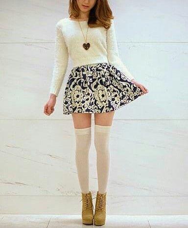 Teen Thigh Socks Skirt 13