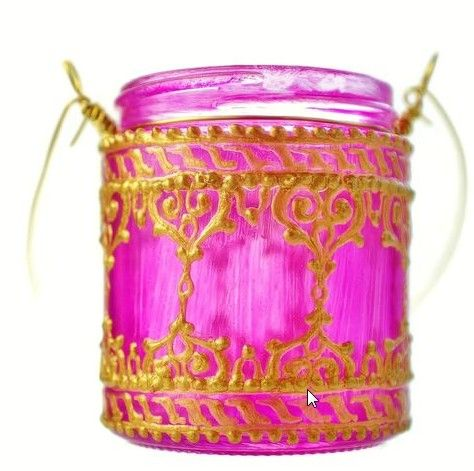 pink candle glass