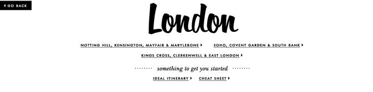 London Cheat Sheet from Kate Spade: A perfect itinerary of where to go!